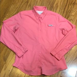 Columbia PFG Snap Front Long Sleeve Shirt Size M